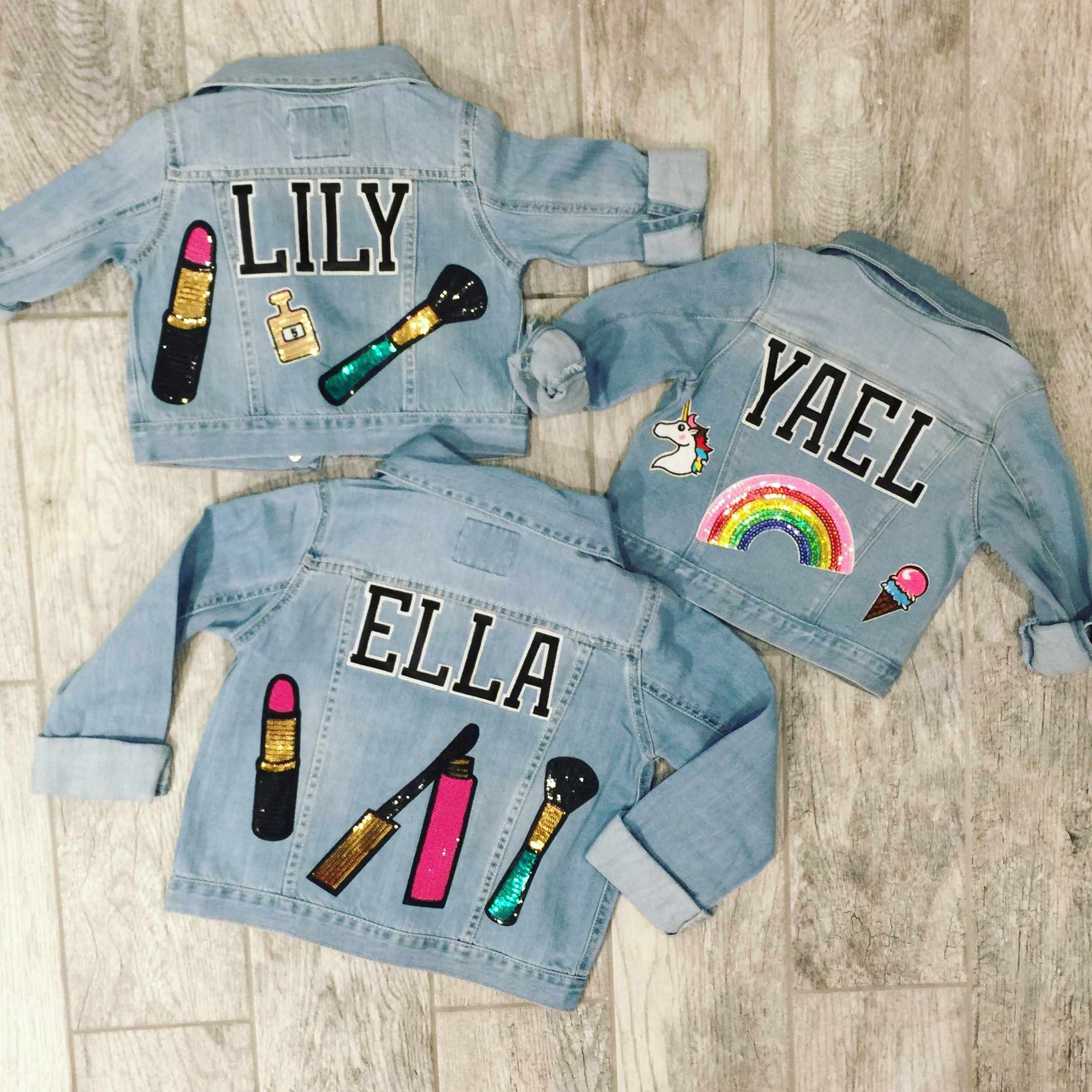 Girls Denim Jacket Custom Jean Jacket Designed With Patches